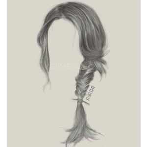 手绘动漫人物女生发型