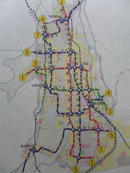 太原地铁规划图