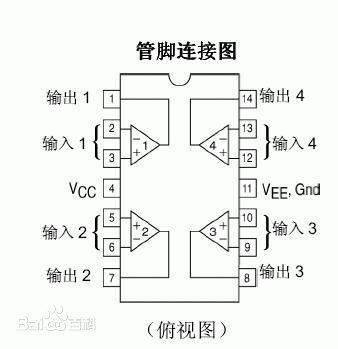 lm324n原理电路图及各引脚的作用