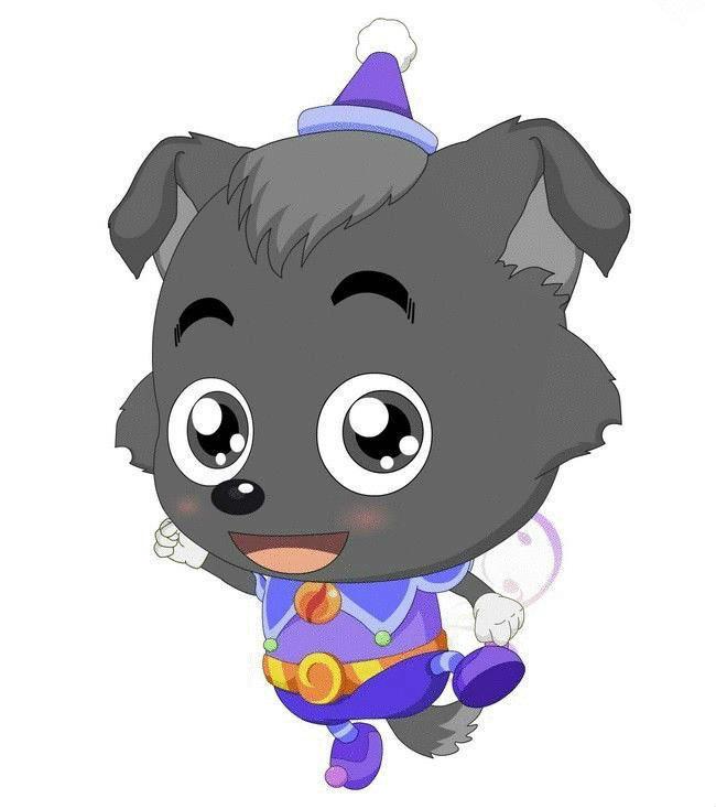 小灰灰是一个十分温驯,可爱的狼宝宝.