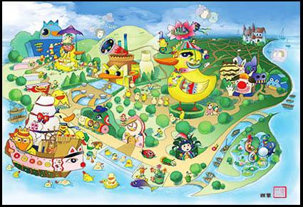 《大黄鸭子的幸福生活》--画画的米乐--颉蓉插画