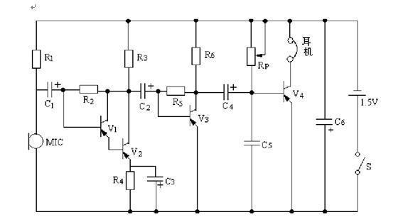 求大神解释下这个助听器的电路原理图,每个元件的作用