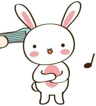 简笔画的小兔子应该上什么颜色