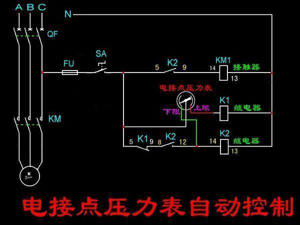 求助一个时间继电器一个浮球阀一个接触器怎么控制水泵,求线路图.原理