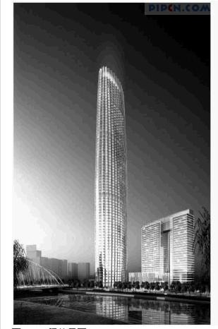 津塔是一座典型的纯钢结构超高层建筑,高336.9米,用钢量为6.