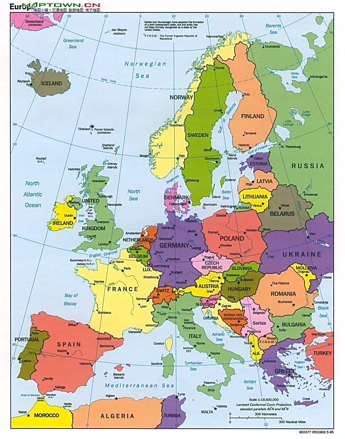 西欧地图手绘简图