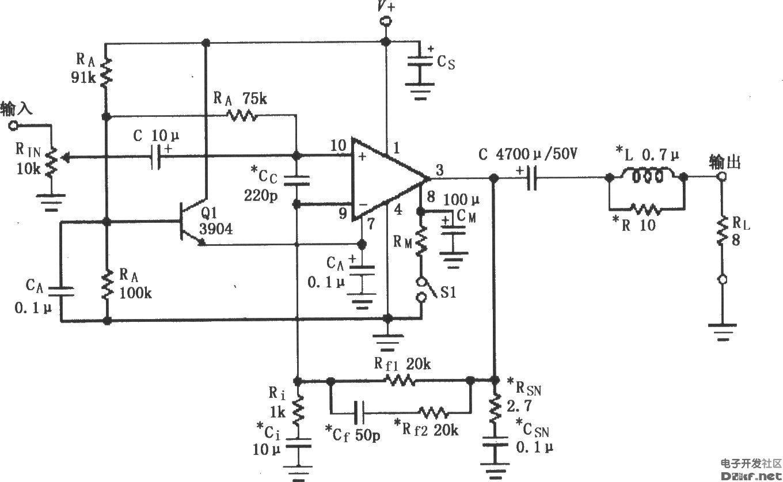 第4章讲解了集成电路前置放大器,otl,ocl和btl音频功率放大器.