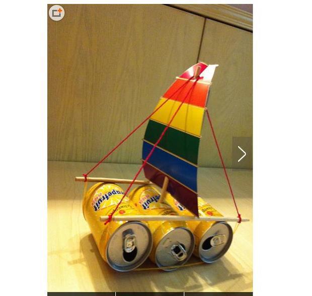 科学小制作需要有科学原理,你还不如用易拉罐和筷子做一个小帆船.