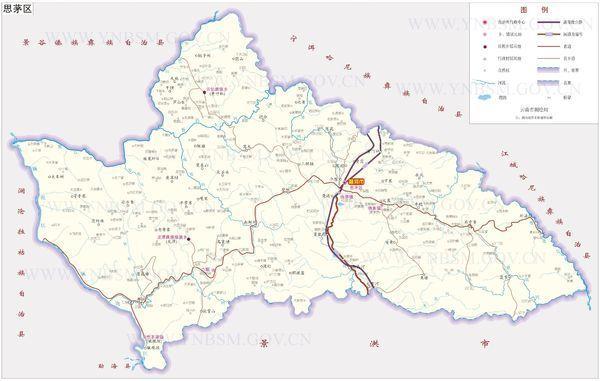 云南省测绘局测绘的思茅区地图比例尺是多少?