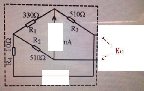 验证戴维南定理!电路图如下 ,如何求等效电阻r0的理论值,最好画图说明