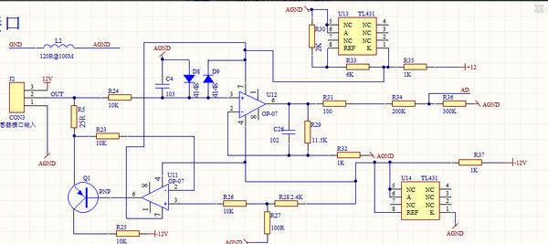 求大家帮忙看下这个4到20ma转0到5v的电路,图中三极管