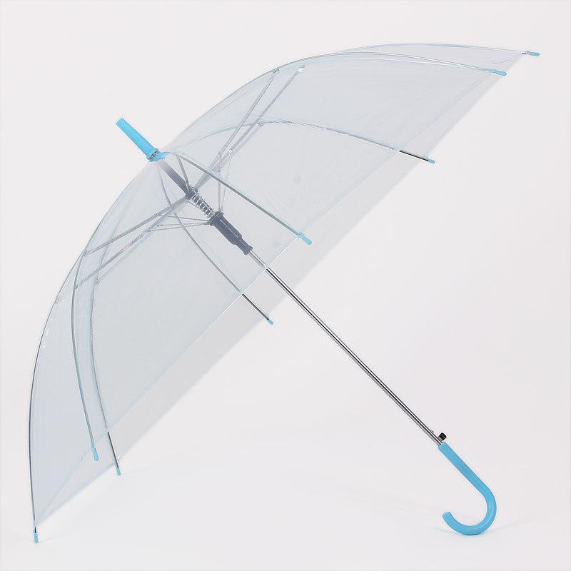 使用透明雨伞的一般为女士居多.