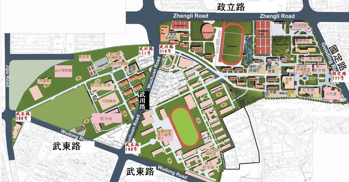 上海财经大学校园图
