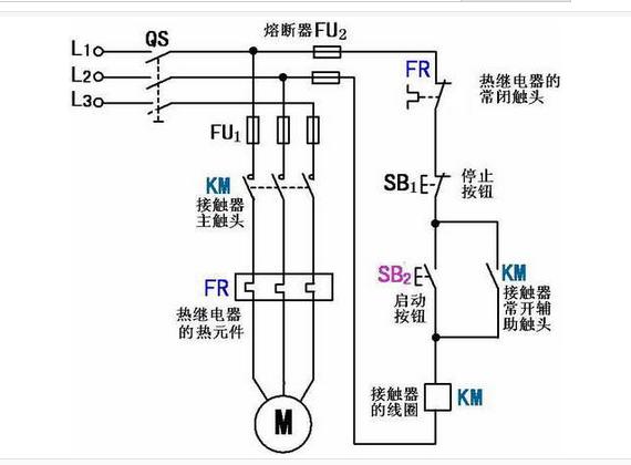 220v交流接触器控制线接线图