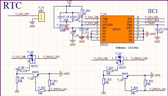ds3231电路图