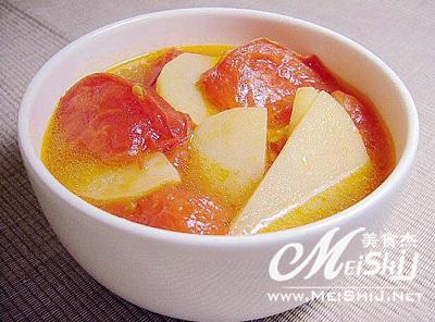 手绘 西红柿汤