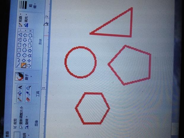 电脑自带画图软件画圆圈线条怎么设置圆圈实心