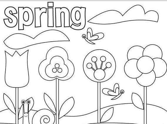 关于春天的画五年级