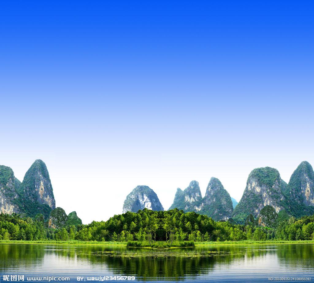 桂林是世界著名的风景游览城市,有着举世无双的喀斯特地貌.图片