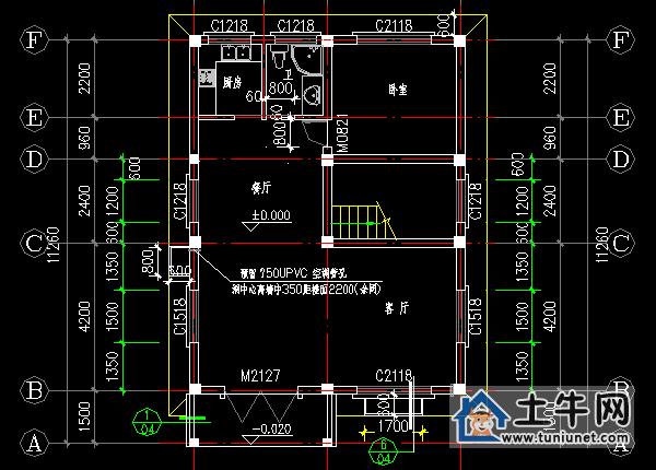 求农村自建房图纸,座西朝东8X12m,要四室厅一图纸别墅的及v农村效果图片